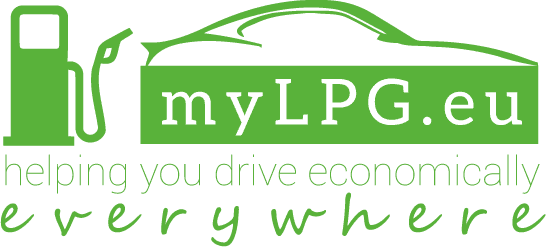 myLPG.eu large logo: myLPG.eu, helping you drive economically everywhere