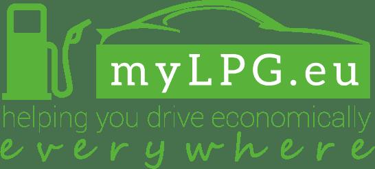 myLPG.eu large logo: myLPG.eu, helping you drive economically everywhere
