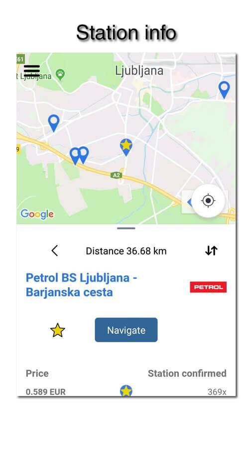 myLPG.eu app - station info
