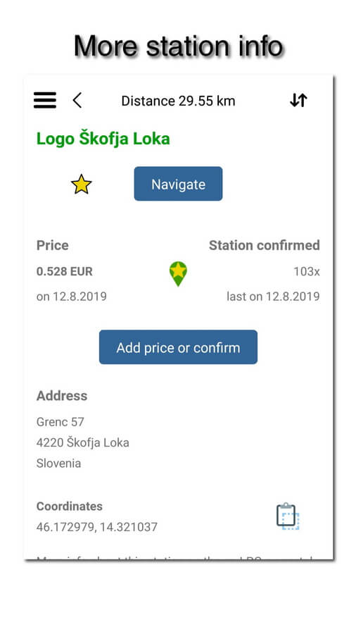 myLPG.eu app - more station info