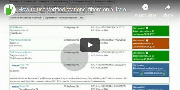 Tutorial of how to use the Verified stations' filters on Youtube